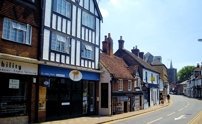 Old terraced properties in Rickmansworth
